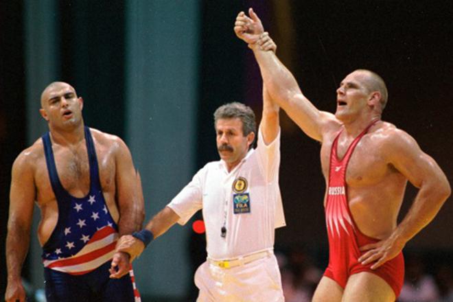 Александр Карелин - олимпийский чемпион 1996 года