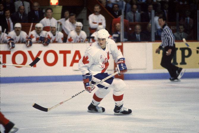 Марио Лемье на Кубке Канады-1987