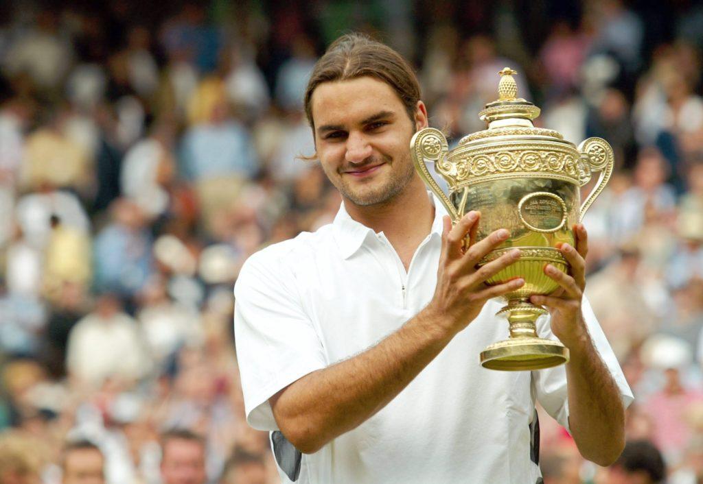 Молодой Роджер Федерер - победитель Уимблдонского турнира (2003)