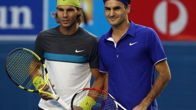 Роджер Федерер и Рафаэль Надаль - самые титулованные теннисисты в истории турниров Большого шлема