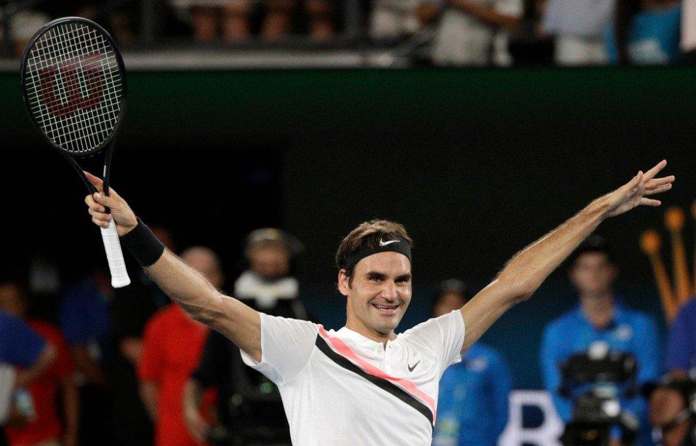Роджер Федерер на триумфальном для себя Australian Open-2018