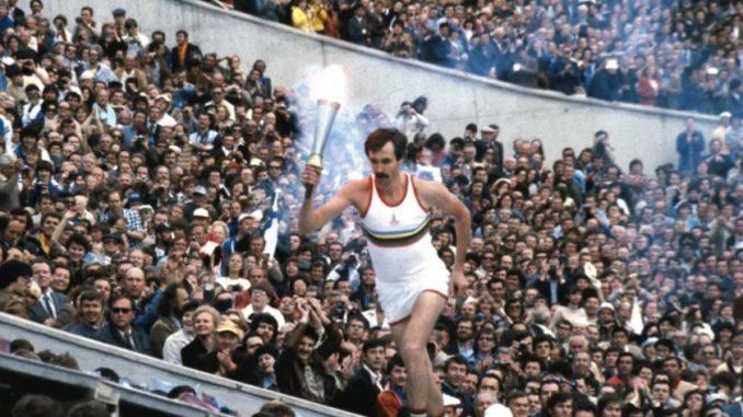 Сергей Белов на открытии Олимпийских игр-1980 в Москве