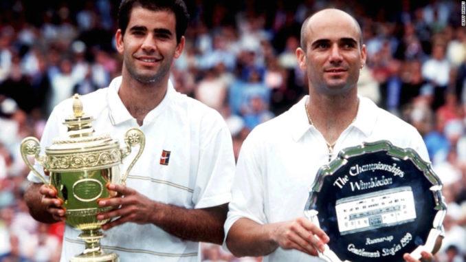 Теннисные легенды 90-х Пит Сампрас и Андре Агасси