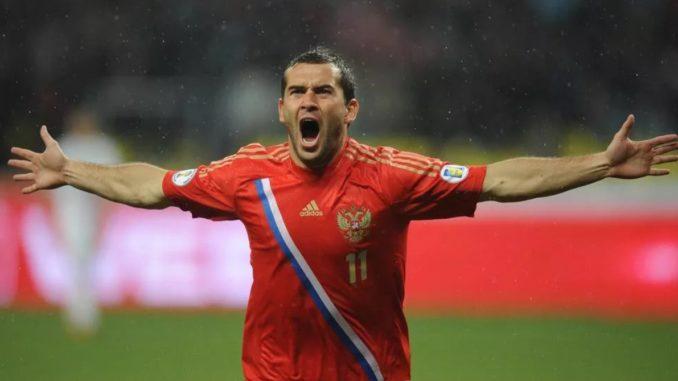 Александр Кержаков - лучший бомбардир в истории сборной России по футболу