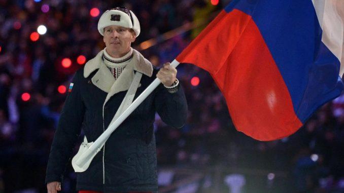 Александр Зубков на церемонии открытия Олимпийских игр-2014 в Сочи