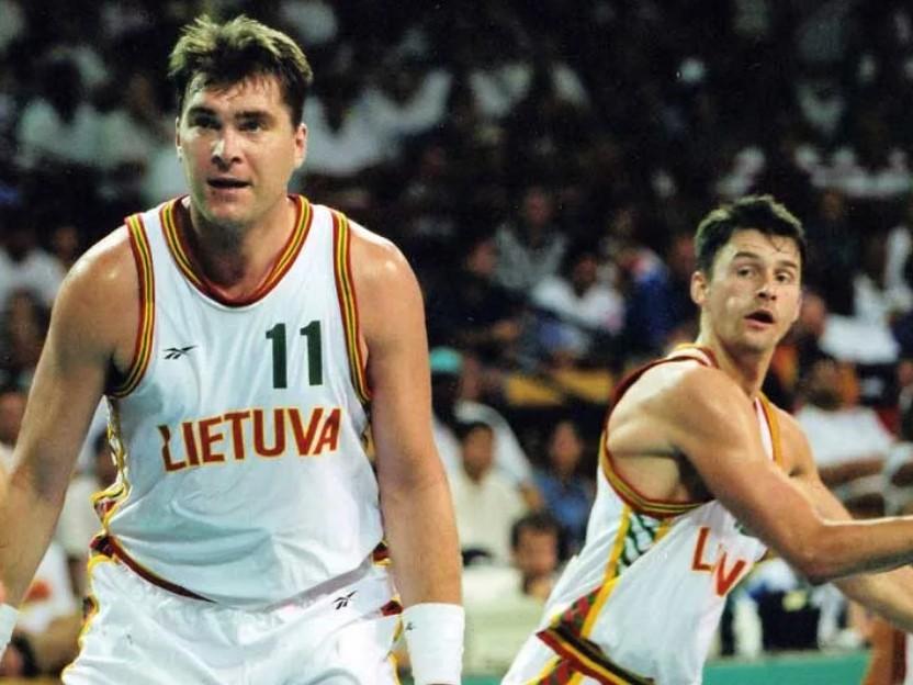 Арвидас Сабонис в составе сборной Литвы