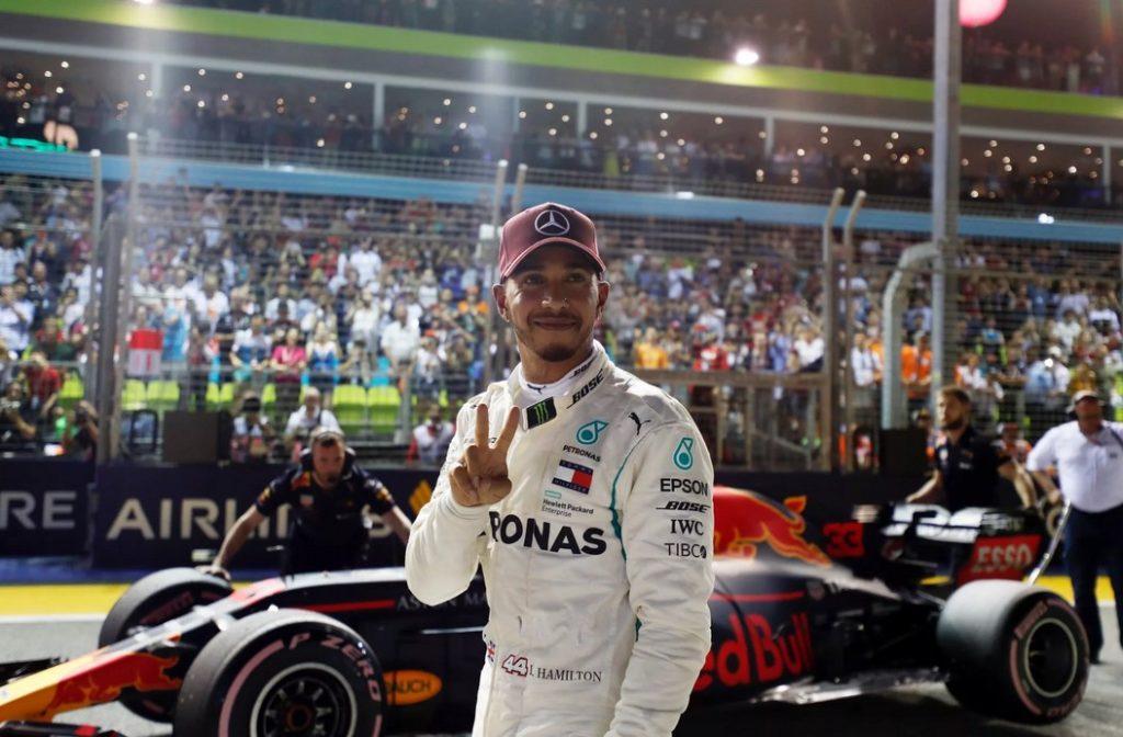 Льюис Хэмилтон на Гран-при Сингапура-2018