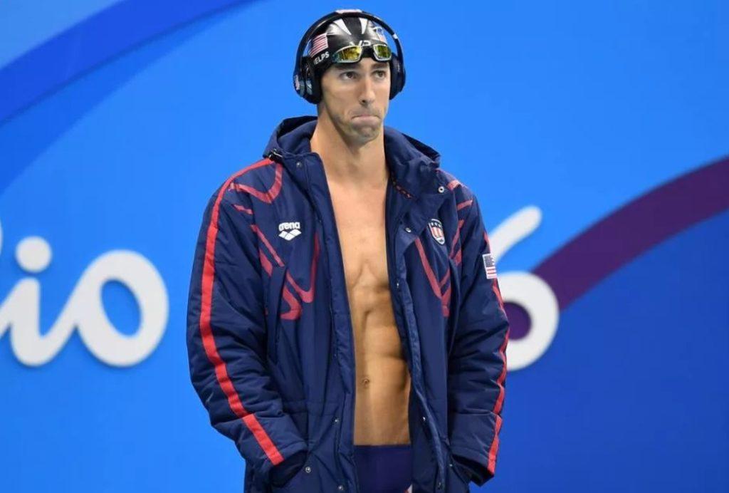 Майкл Фелпс перед заплывом (Олимпийские игры-2016)