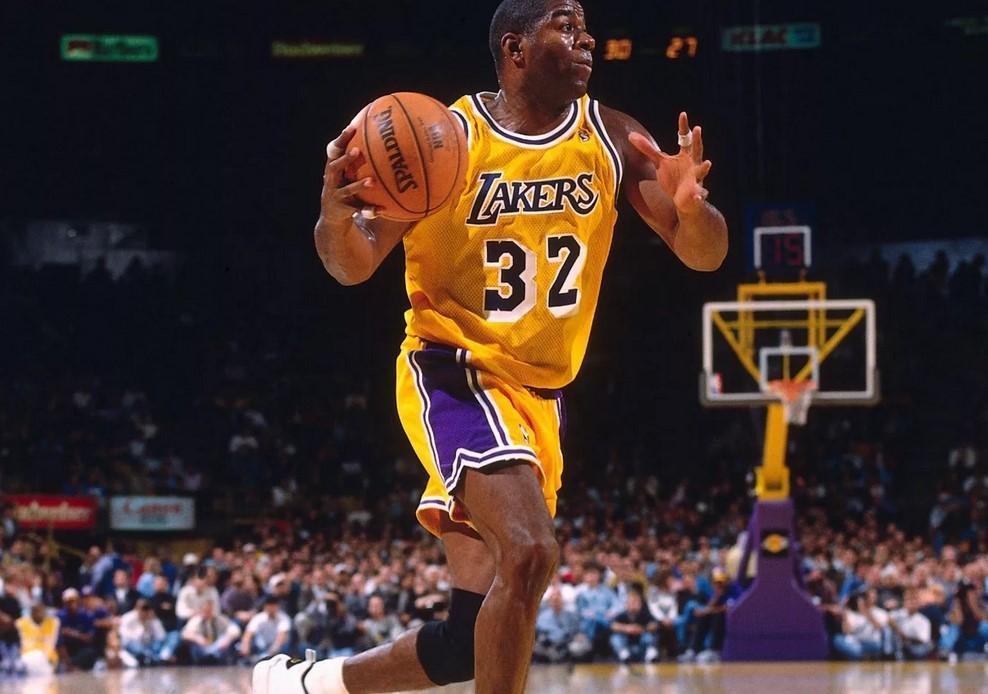 Мэджик Джонсон после возвращения в НБА (1996)