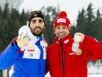 Мартен Фуркад и Уле Эйнар Бьорндален - многократные чемпионы мира по биатлону