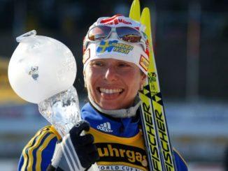 Магдалена Форсберг - шестикратная обладательница Кубка мира
