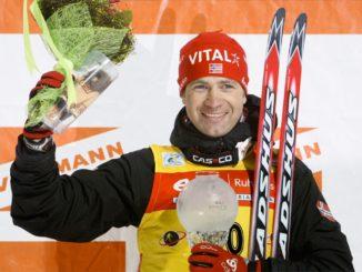 Уле Эйнар Бьорндален - тринадцатикратный призер общего зачета Кубка мира по биатлону