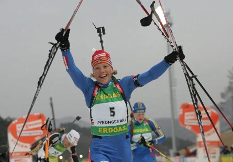 Ольга Зайцева - чемпионка мира 2009 года в масс-старте