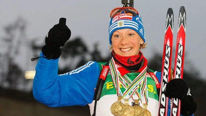 Ольга Зайцева - прославленная российская биатлонистка